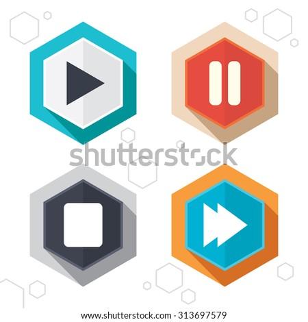 hexagon buttons player