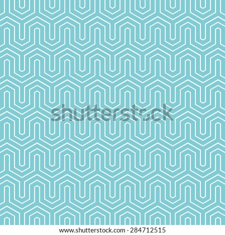Hexagon chevron pattern background. Vintage vector pattern.