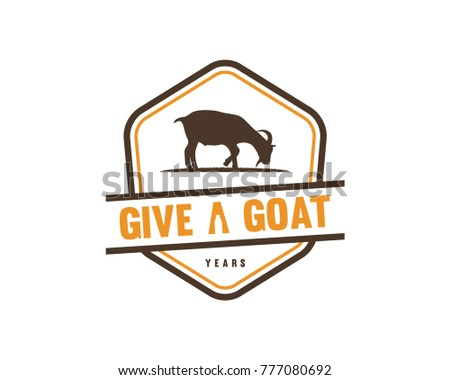 Hexagon Goat Milk Company Logo Vintage