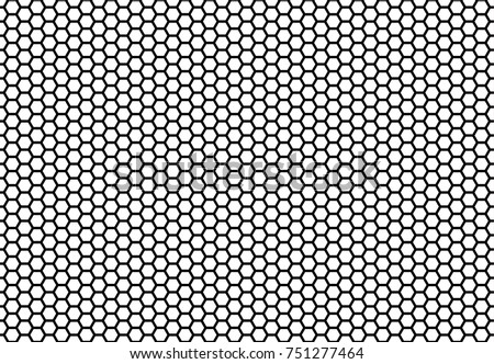 Hexagon honeycomb seamless background. Simple seamless pattern of bees' honeycomb cells. Illustration. Vector. Geometric print