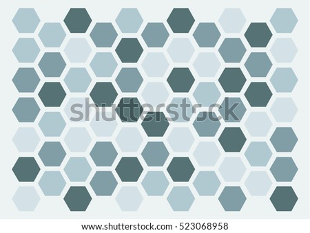 hexagon monochrome pattern