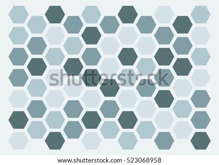 hexagon monochrome pattern