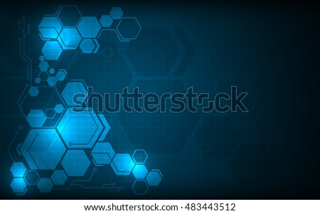 hexagon pattern hi tech innovative concept design background