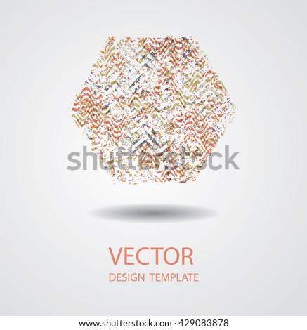 Hexagon Shape. Hexagon Retro Shape. Hexagon Label Shape. Grunge ...