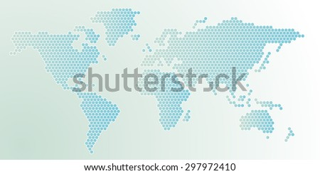 Free Vector Mosaic World Map Download Free Vector Art Stock - World map shape