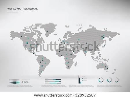 World map infographic download free vector art stock graphics hexagon shape world map infographic vector illustration gumiabroncs Gallery
