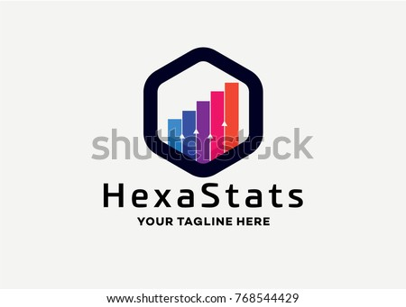 Hexagon Stats Analytic Logo Template Design Vector, Emblem, Design Concept, Creative Symbol, Icon