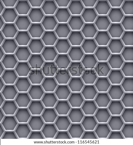 Hexagon steel background