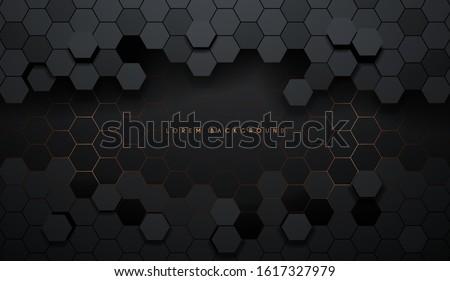 hexagonal abstract metal