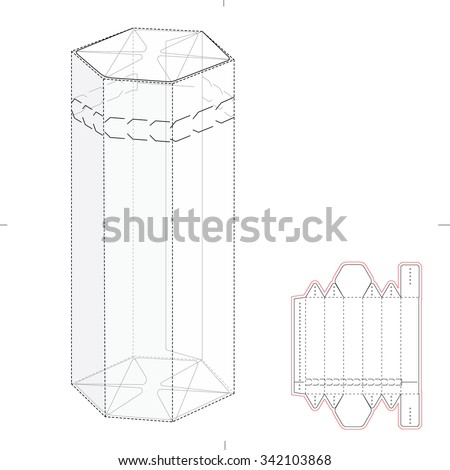 Tent Product Display Blueprint Layout 171644123 as well Zudy additionally Zudy in addition Stock Vector Six Pack Carrier Box With Die Cut Template also Hexagonal Dispenser Box Die Cut Template 346357331. on layout for hexagonal box