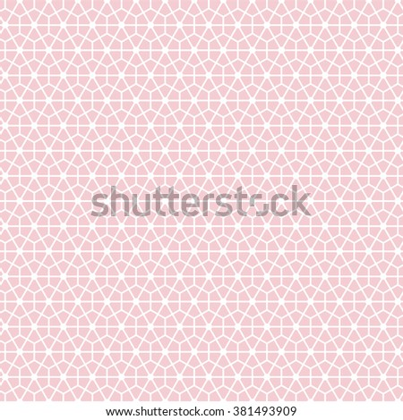 Hexagonal Grid Design Vector Seamless Pattern EZ Canvas