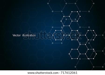 Hexagonal molecule vector