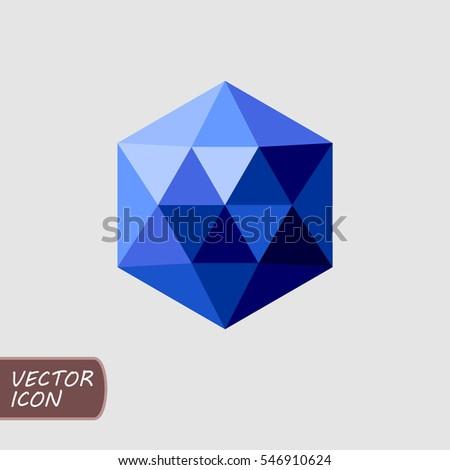Hexagonal sapphire icon