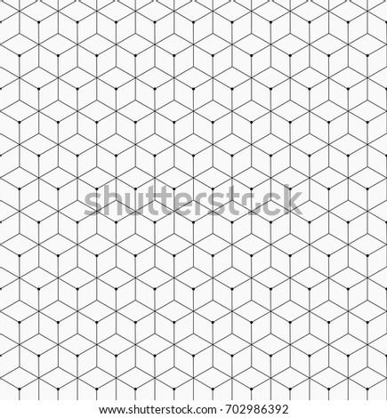 Hexagonal trendy hipster geometric vector pattern