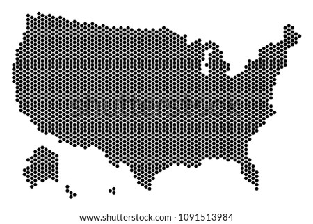 hexagonal usa with alaska map