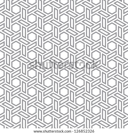 Hexagons gray vector simple seamless pattern