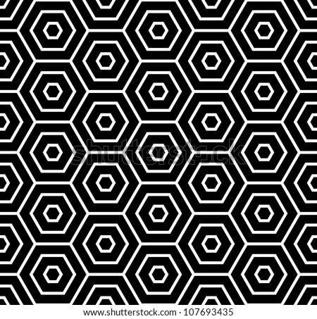Hexagons texture. Seamless geometric pattern. Vector art.