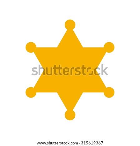 hexagram sheriff star badge. justice logo. Stock fotó ©