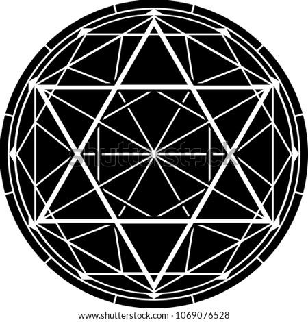 hexagram. vector illustration for design and web