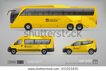 hi detailed transport mockup of