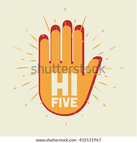 hi five illustration two hands