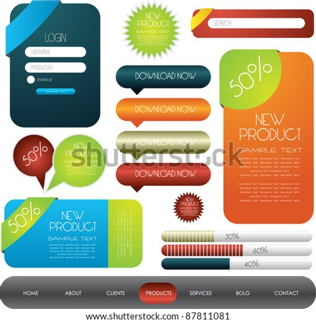 hi quality web designing elements collection