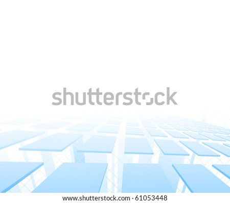 Hi-tech background with tiles. Vector illustration