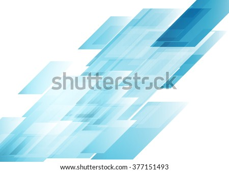 hi tech blue shapes abstract