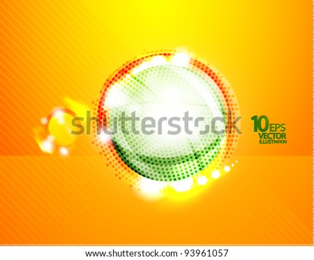 Hi-tech bubble vector abstract background