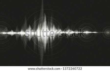 Hi-Tech Digital Sound Wave Low and Hight richter scale with Circle Vibration on Black Background,technology and earthquake wave concept,design for music studio and science,Vector Illustration.