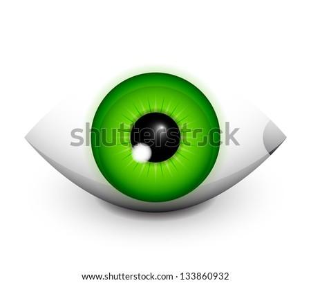 Hi-tech eye concept icon design