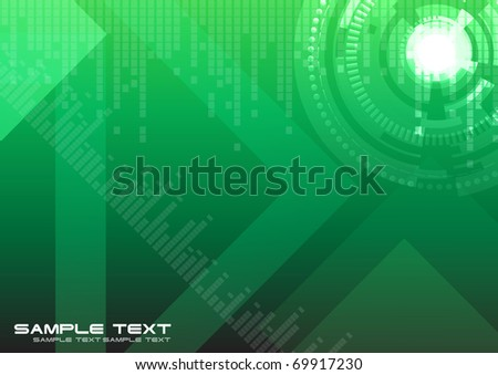 Hi-tech green background. Clip-art