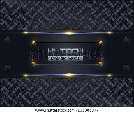 Hi-Tech Metallic Background Vector Design