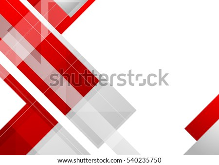 Hi-tech red corporate abstract background. Geometric vector design - Shutterstock ID 540235750