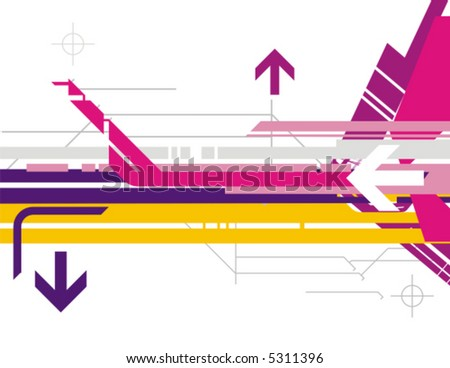 Hi tech vector background series with arrow details stock vector