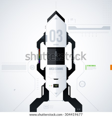Hi-tech vector template. EPS10