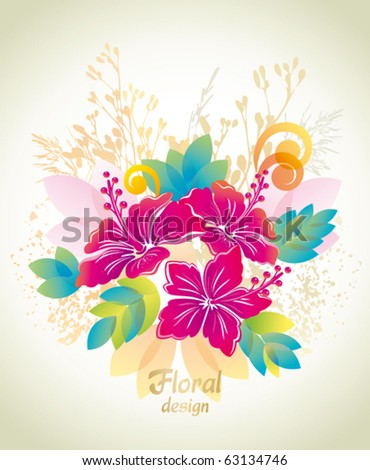 Hibiscus. Floral background.