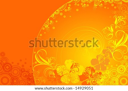 hibiscus flower vector illustration
