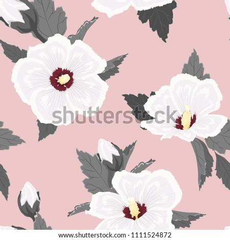 hibiscus flowers buds leaves....