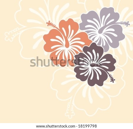 flowers ilustration in vector format very easy to edit, tropical flower