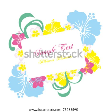 Hibiscus frame. Illustration vector.