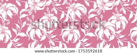 hibiscus hawaii seamless