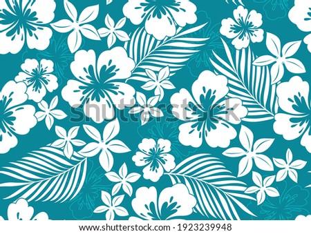 hibiscus hawaii seamless pattern, fashion background. Zdjęcia stock ©