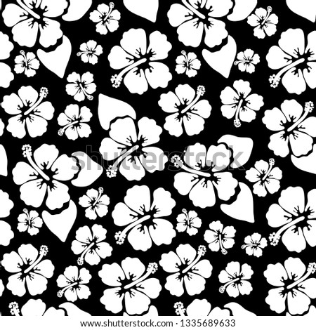 556d8c70b Hibiscus seamless background. Aloha Hawaiian shirt design. Vector  illustration for clothing, textile in