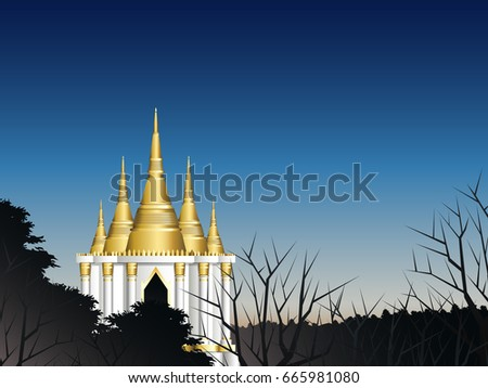 hidden golden pagoda in deep