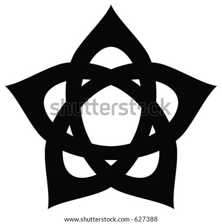 Hidden Pentagram - stock vector