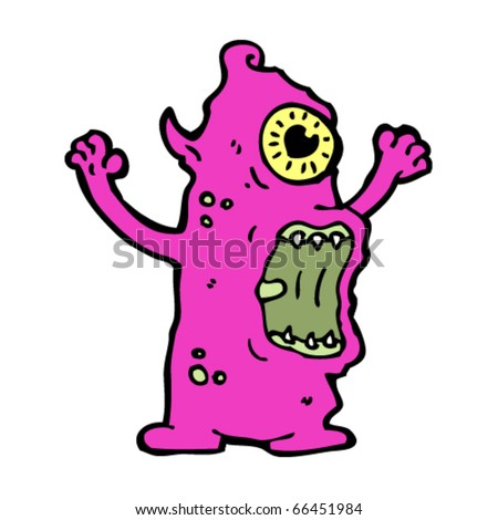 Hideous Monster Cartoon Stock Vector 66451984 : Shutterstock