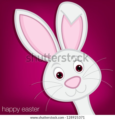 Hiding Easter Bunny card in vector format