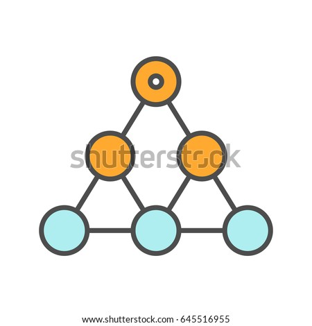 Hierarchy color icon. Team building and structure concept. Isolated vector illustration