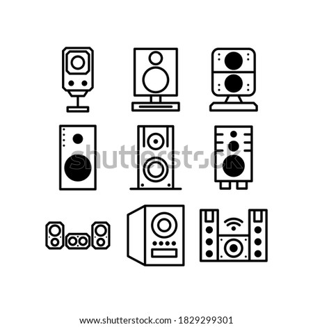 hifi speaker  icon or logo isolated sign symbol vector illustration - high quality black style vector icons